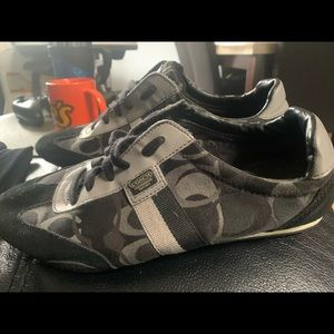 Black and gray coach sneakers Kinsley size 9